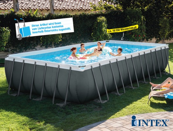 Das Frame Pool Set Ultra Quadra XTR von Intex.